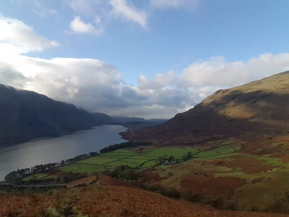 Looking back to Wasdale from the beginning of Yewbarrow