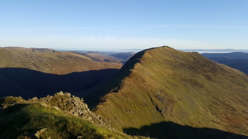 Looking down on St Sunday's Crag ridgeline. Incredible, and a million times better than its neighbour Striding Edge (the M6).